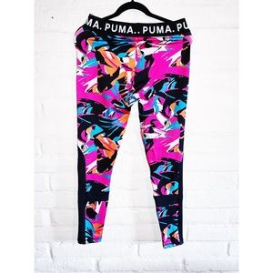 Puma || 80s colors Workout Leggings